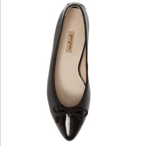 Paul green Andre black leather pointed toe flats 8